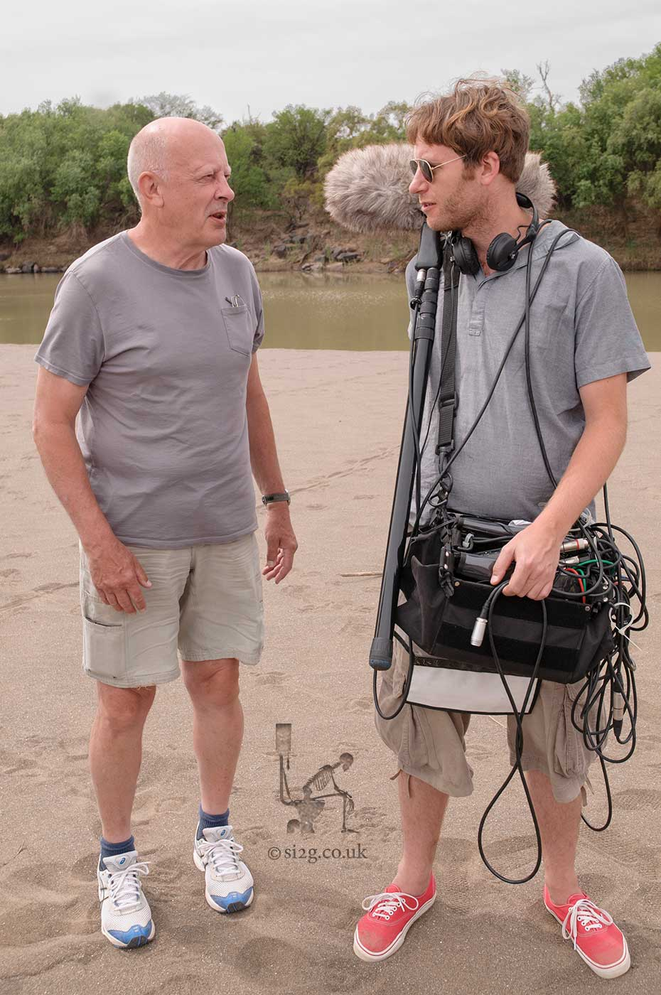 Crew Jokes - Colin the sound recordist listens to the same joke Rob has told for the hundredth time.