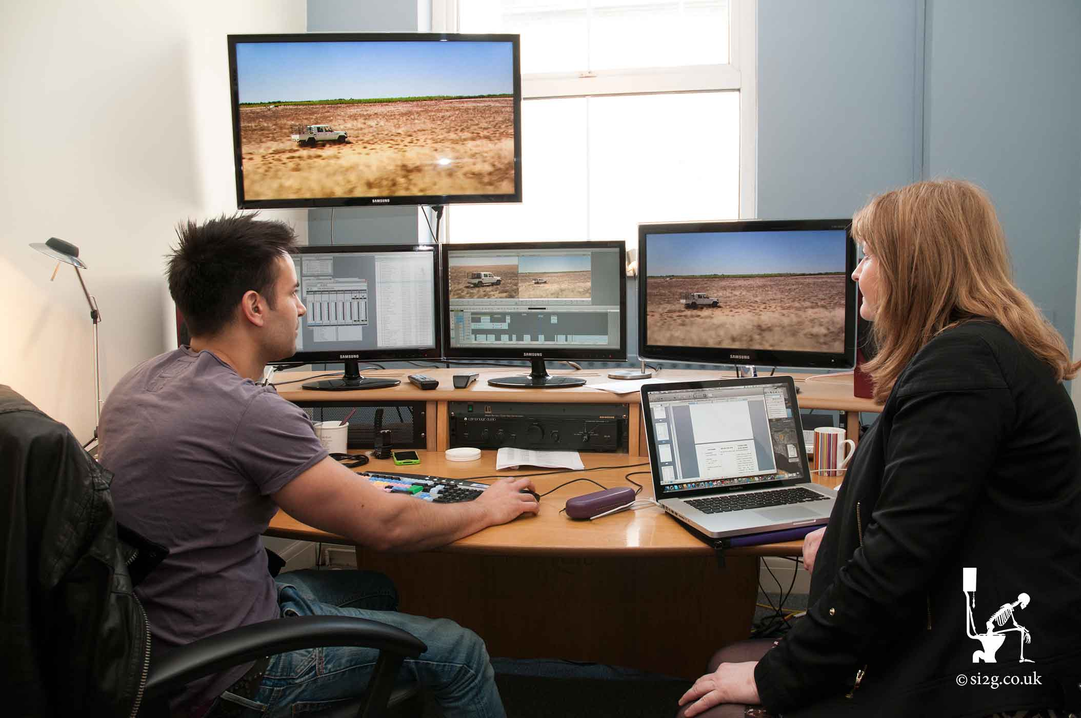 Offline Edit Suite - Offline editing in progress using Avid Media Composer to edit the footage shot in South Africa.