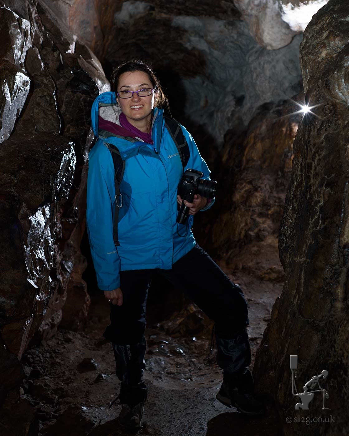 Going Underground - Daria exploring a network of caves underneath the Welsh countryside.