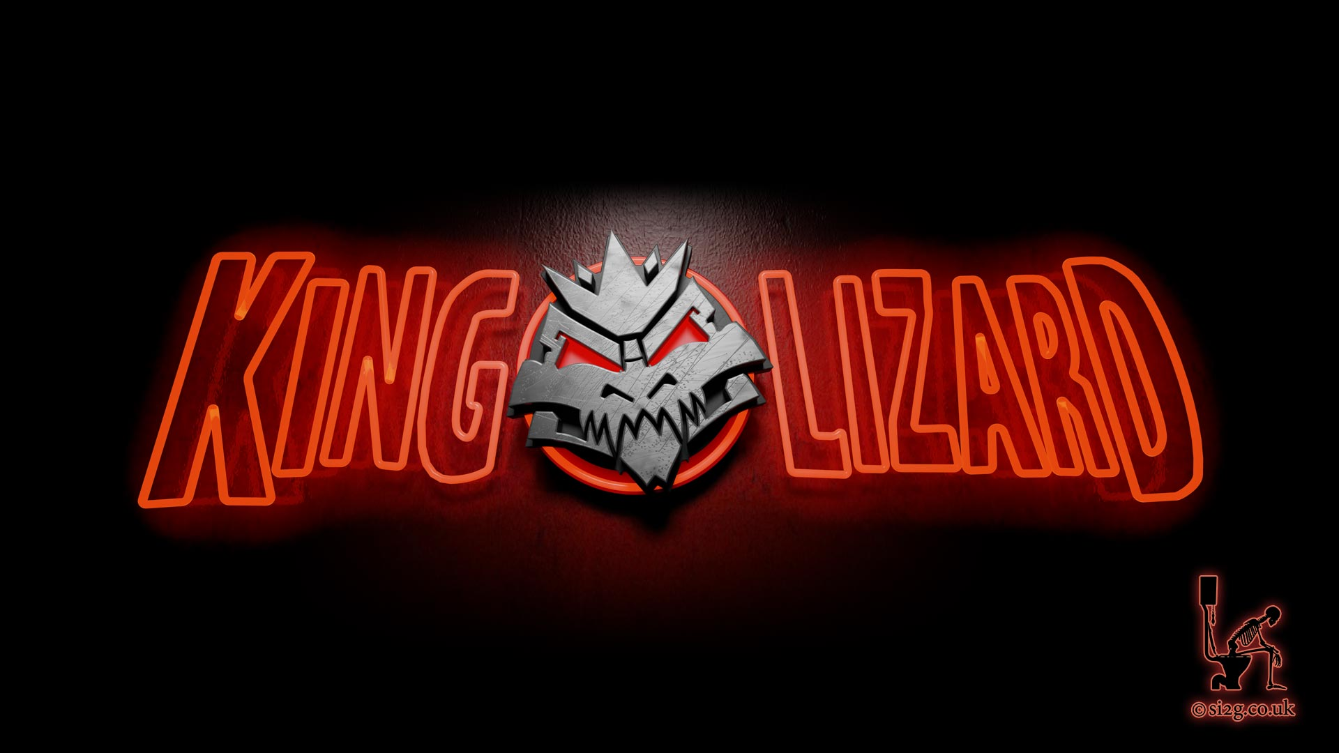 King Lizard Neon Lights - Framegrab from the animated logo created for sleazy London rock group King Lizard.  This neon sign was used at the beginning of their promo video and their live DVD.  The brief was to add a bit of Soho to their branding.